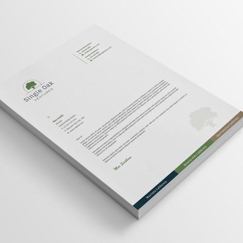 Modern & Professional Letterhead Design