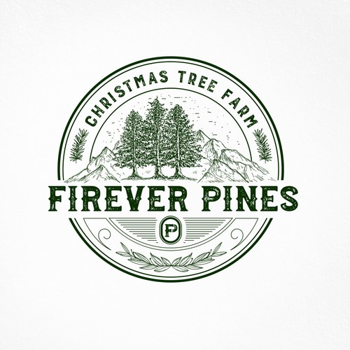 Hand Drawn Logo For Firever Pines