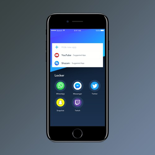 "UI Screen for ""App Locker"""