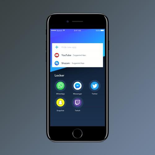 "UI Screen for ""App Locker"""