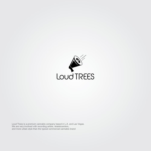 logo concept for Loud Trees premium cannabis