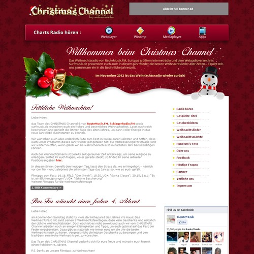 Christmas-Channel.com needs website design