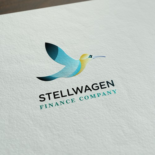 Logo concept for finance company