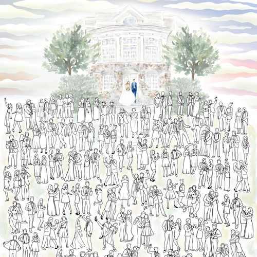 Wedding Guest Coloring Page