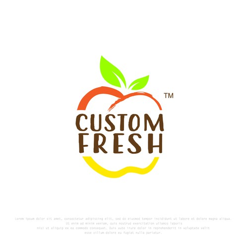 In contest CustomFresh needs new logo and idenity package