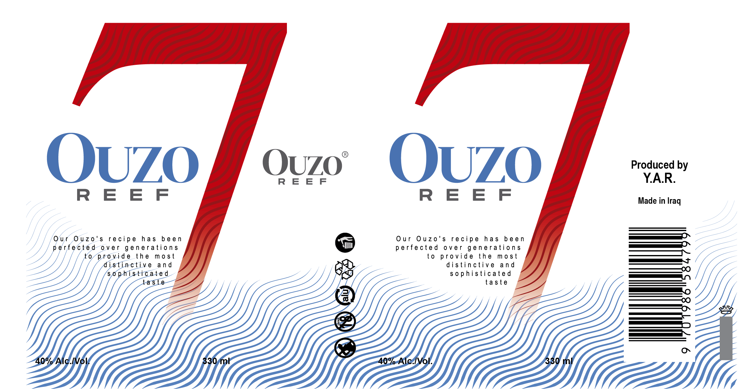 Ouzo Reef 7 - Ouzo cans design/artwork