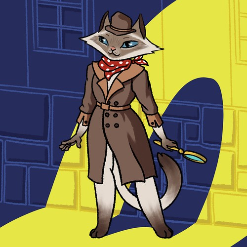 "Cover Design for Children Book Series ""Detective Kat"""