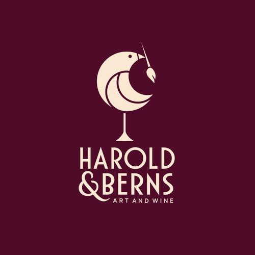 art and wine store logo