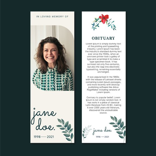 Bookmark for Funeral