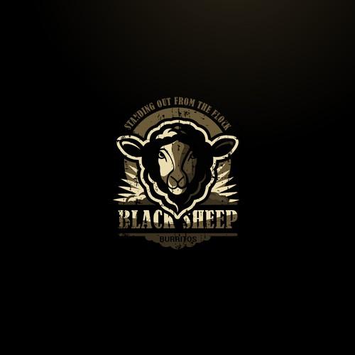 Logo design for Black Sheep Burritos 2