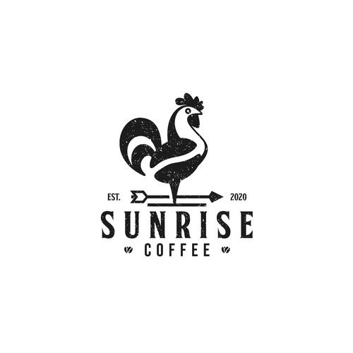 Logo Design für eine Kaffee Marke - Sunrise Coffee - Bio Kaffee aus direktem Handel