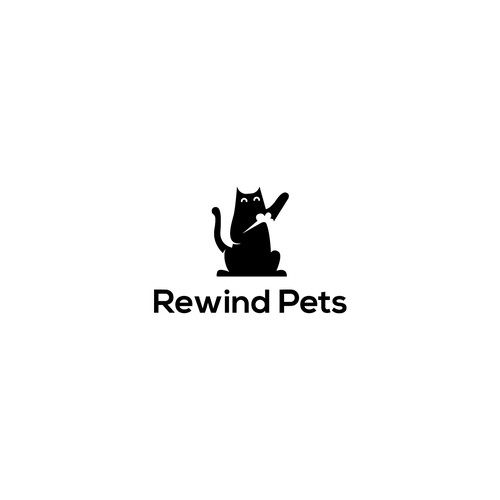 logo design concept for rewind pets