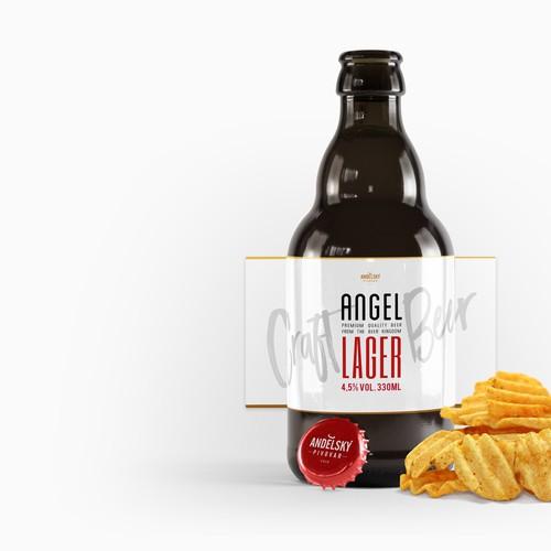Beel Label for Angel Lager