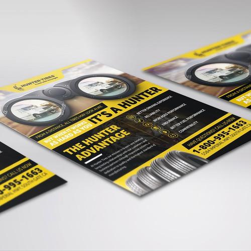 Flyer design for Hunter Tires