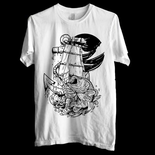 fishing tshirt design