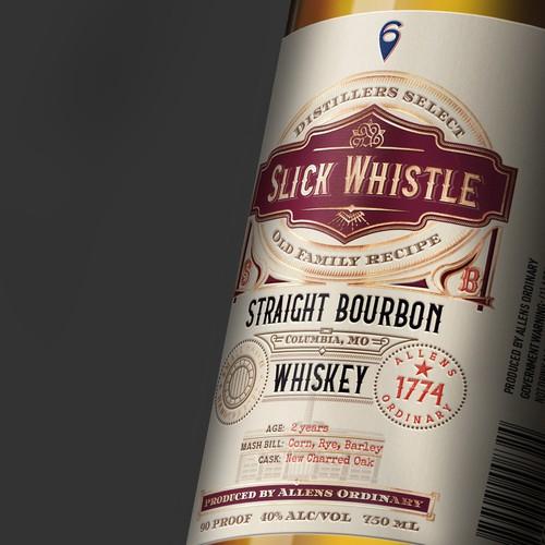 Bourbon Whiskey Label Design
