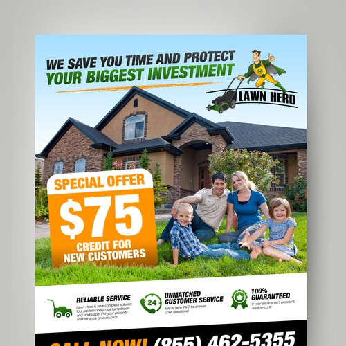 Create an Eye-Catching Flyer for Lawn Hero!