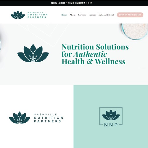 Feminine logo for health and wellness