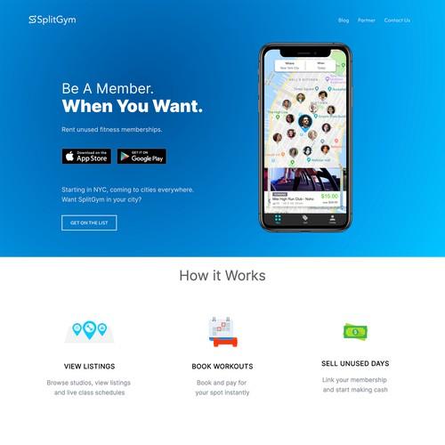 SplitGym: Mobile Website Solution