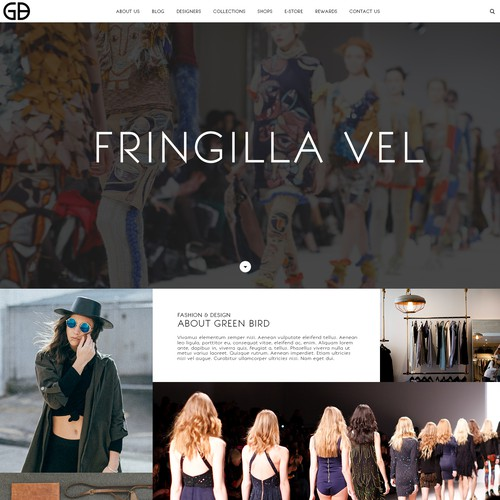 Web design for a fashion boutique