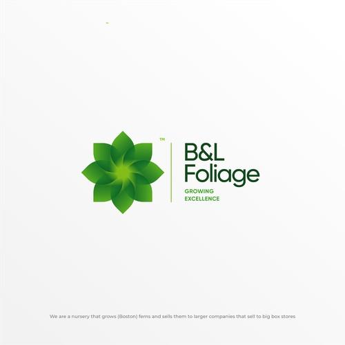 Logo Design Concept for B&L Foliage