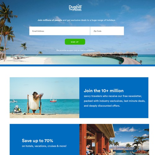 Holiday Deals Landing Page