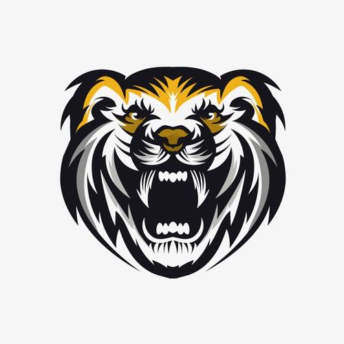 Abstract tiger face logo