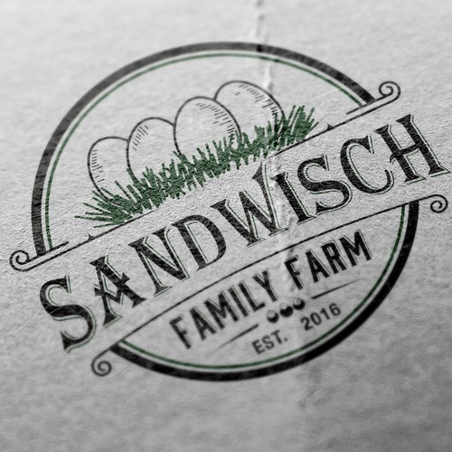 vintage logo for egg farm