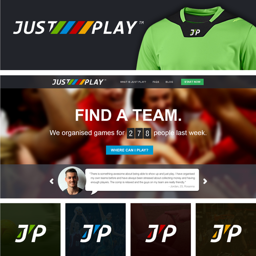 Logo for JUST PLAY