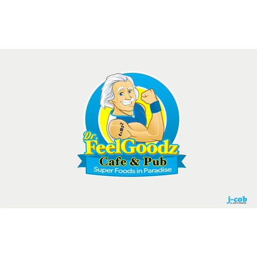 logo for Dr. Feel Goodz Cafe & Pub