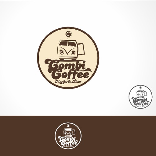 Create a logo design for a mobile coffee van