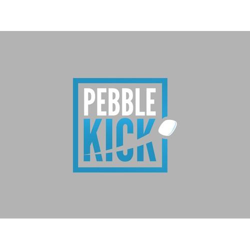 Pebble Kick- Fresh logo for a gaming company