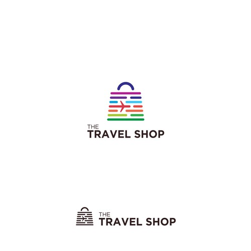 Memorable Logo Concept for The Travel Shop