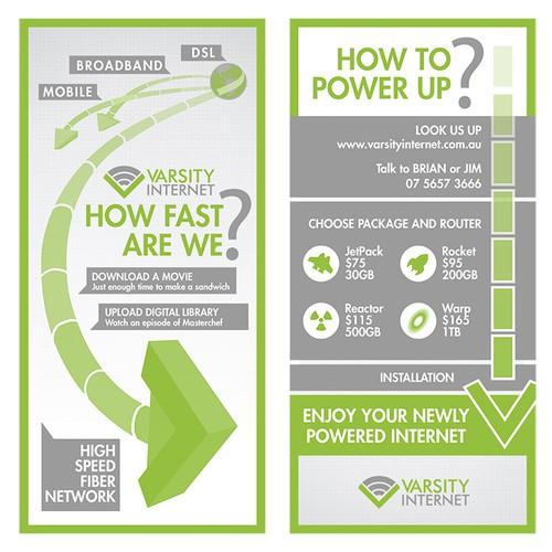 Infographic Flyer for Varsity Internet