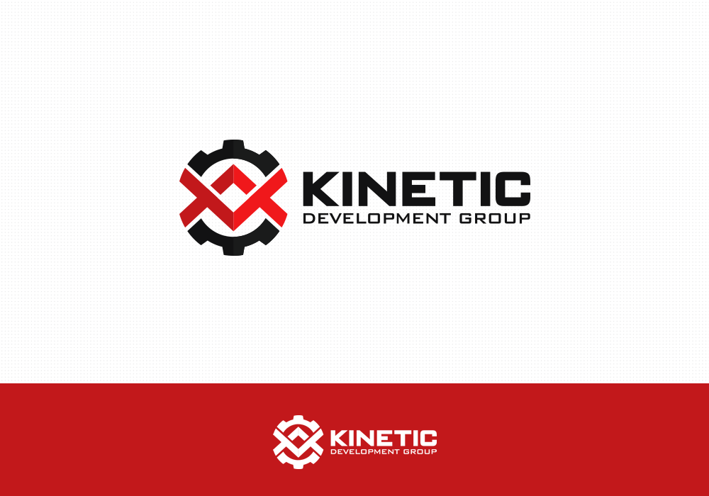 Create a business image for KINETIC development group.  Firearms design and manufacturing - WON