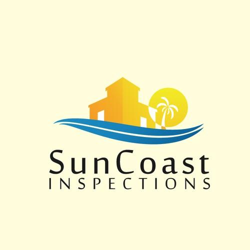 beach and sun logo concept