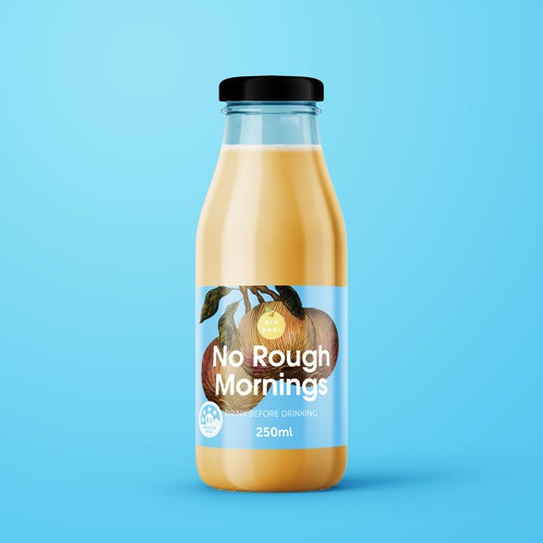 Prepear No Rough Mornings hangover drink Label Design