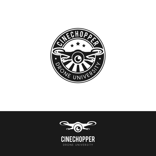 logo for drone university