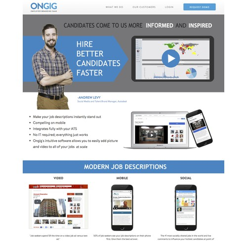 Place our new video on the Ongig home page!