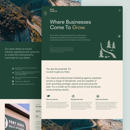 Minimal website design for a marketing agency