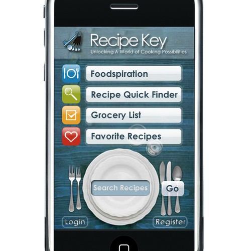 Recipe Key iPhone App & Icon