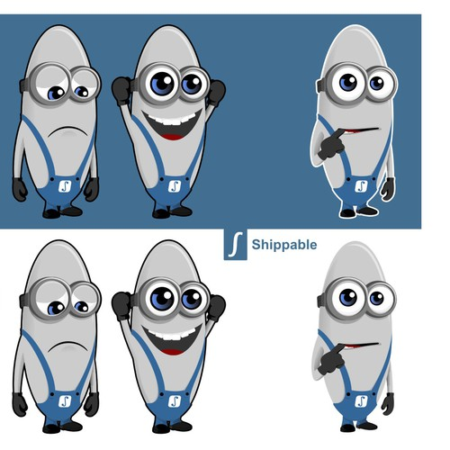 Create a minion character for a hot internet startup!