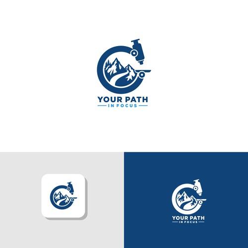 Microscope Mountain logo design