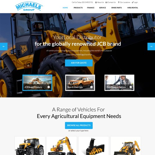 Michaels Group Web Design Homepage