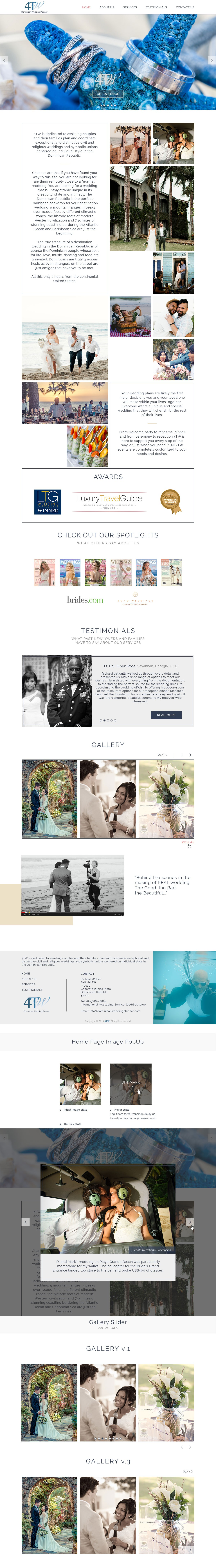 Wedding Planner offers first of several web pages to redesign