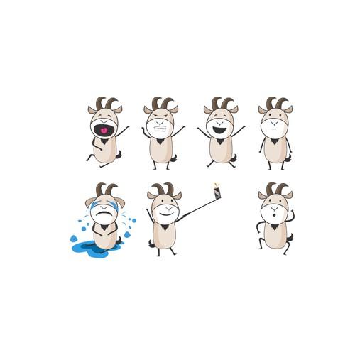 Sassy Goat Sticker