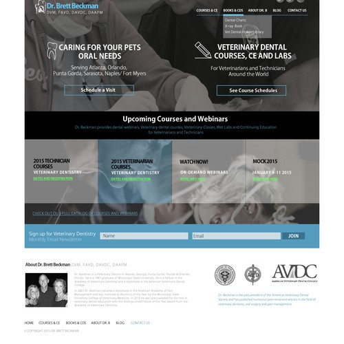 Website Redesign for Veterinary Dental Specialist