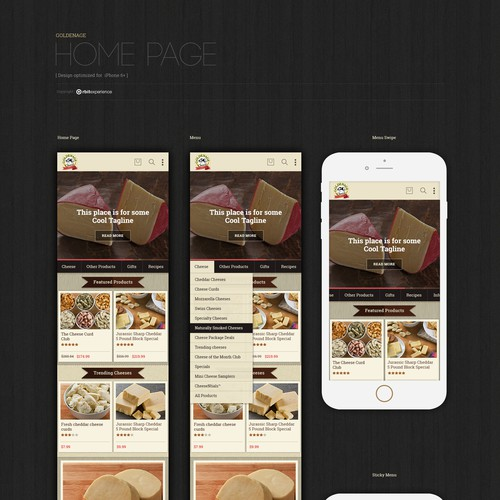Mobile Web Application Design for Goldenage