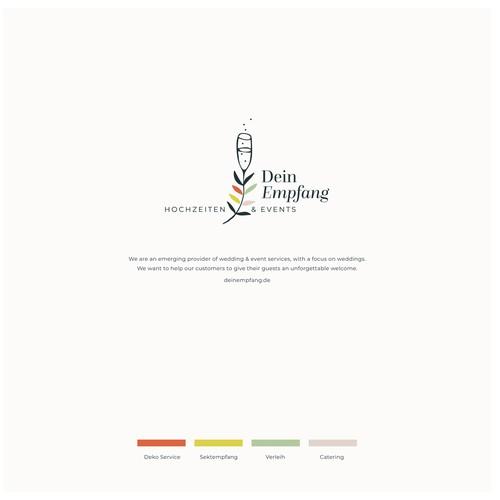 Logokonzept für ein kleines Familienunternehmen, das Hochzeiten und Empfänge ausrichtet