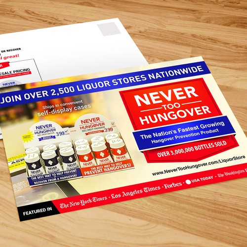 Postcard for Never Too Hungover nutritional drink